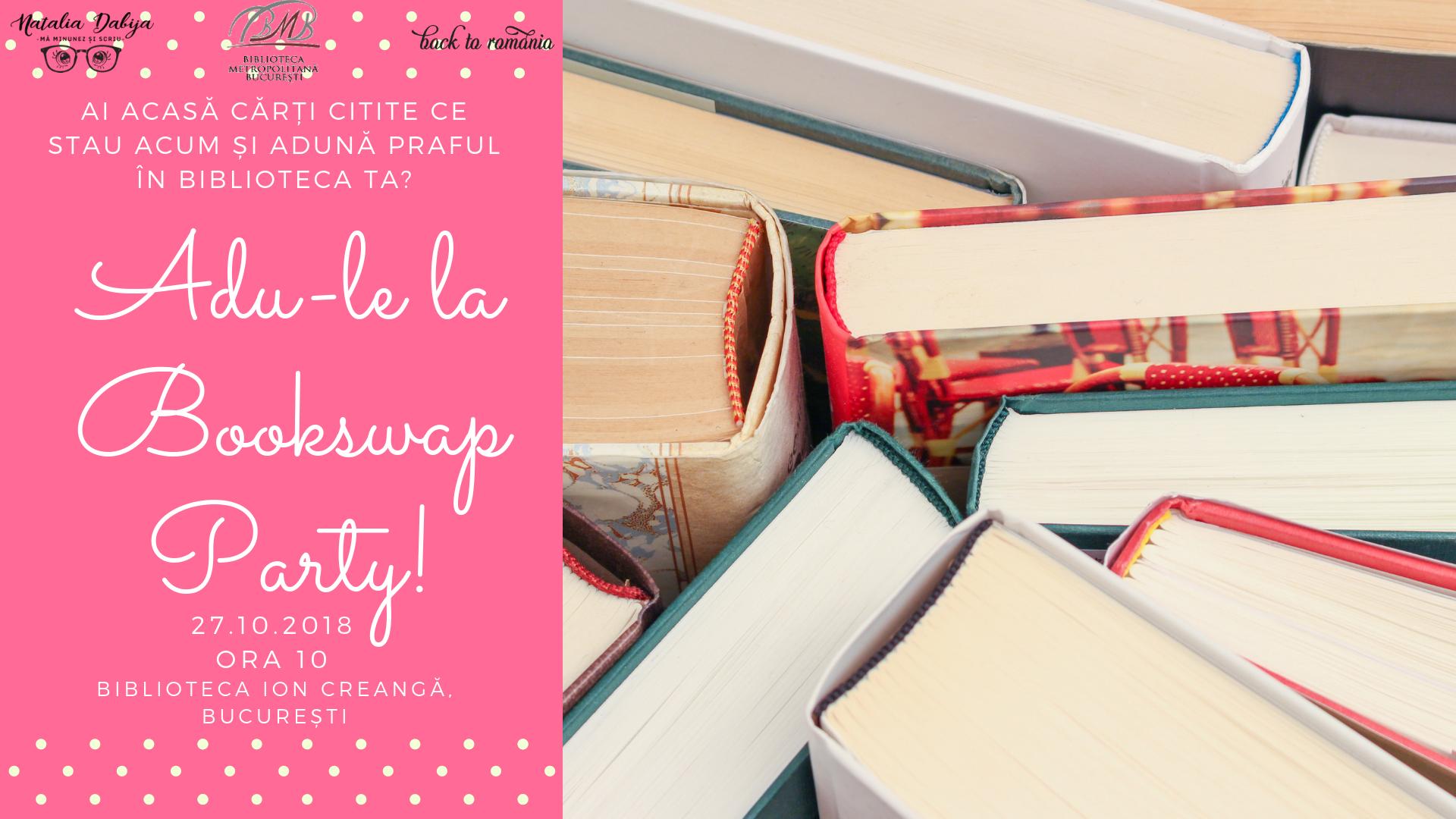 Cea mai faină petrecere pentru iubitorii de cărți Bookswap Party, pe 27 octombrie_schimb de carti
