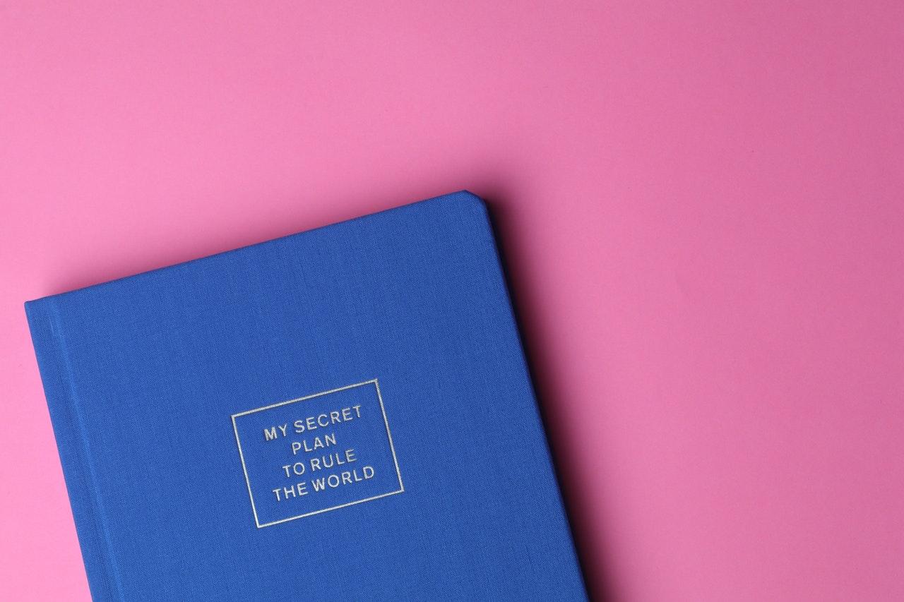 Cum mă asigur că îmi îndeplinesc obiectivele (financiare sau nu))_agenda albastră pe masă roz