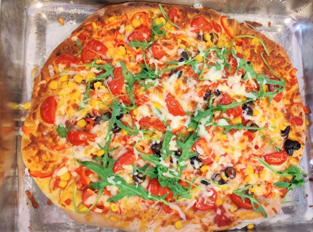 rețete rapide fără carne - pizza cu legume